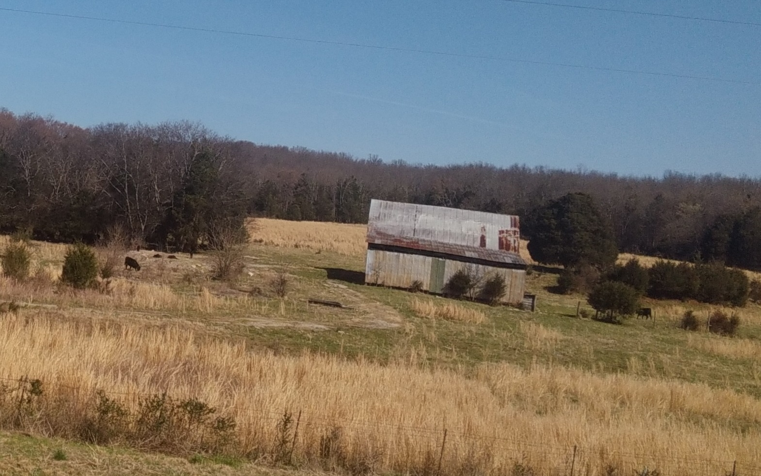 Old barn along interstate (C)
